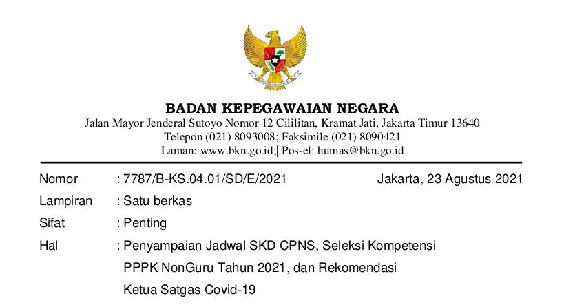Jadwal Skd Cpns 2021 Pengumuman Jadwal Skd Cpns 2021 Cpns